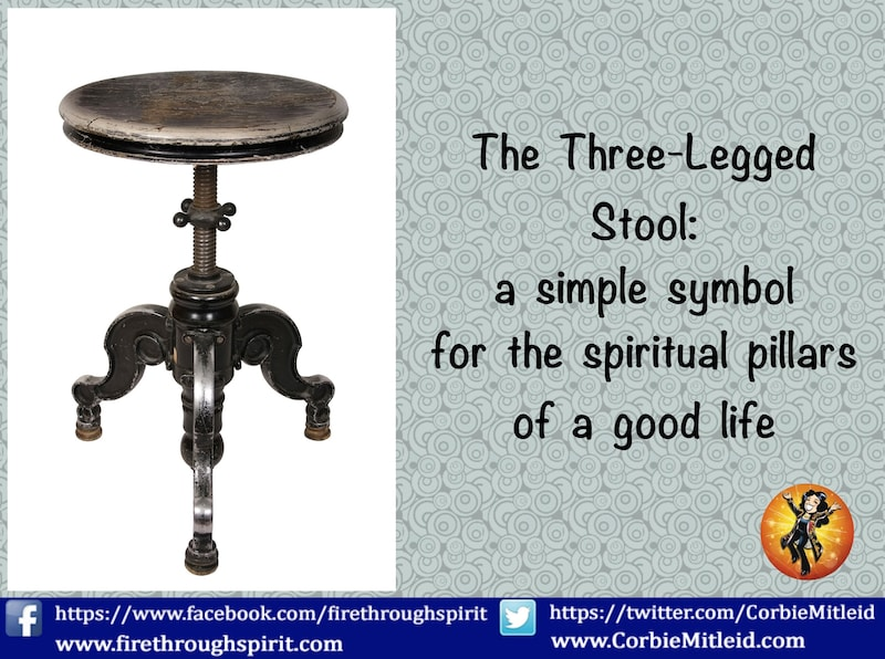 A Simple Symbol, The Three-Legged Stool Reminds Us Of Right Action As We Move Through The World In Spiritual Awakening