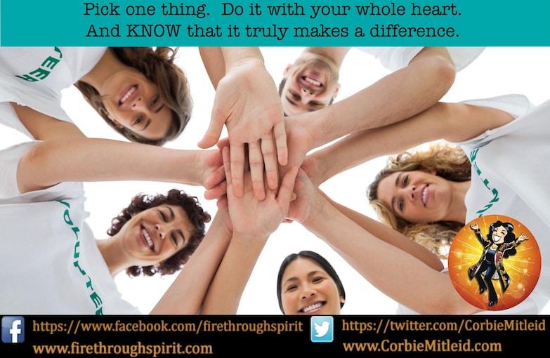 Pick One Thing Change The World - Spiritual Awakening