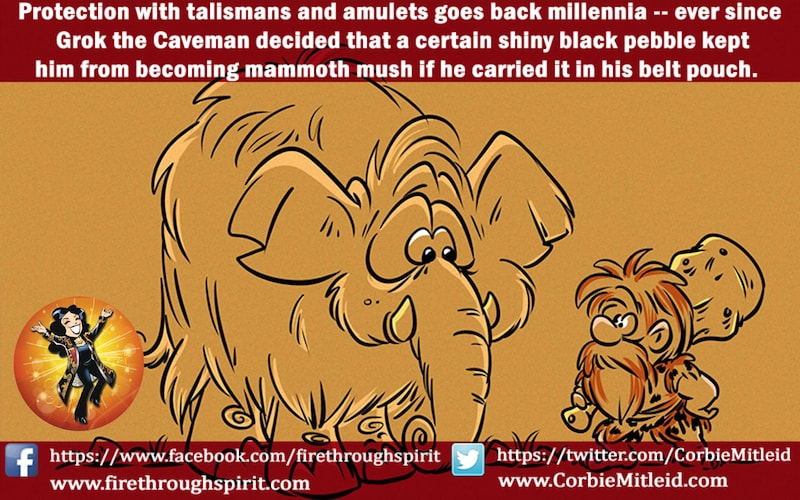 A cartoon caveman stares at a large cartoon wooly mammoth