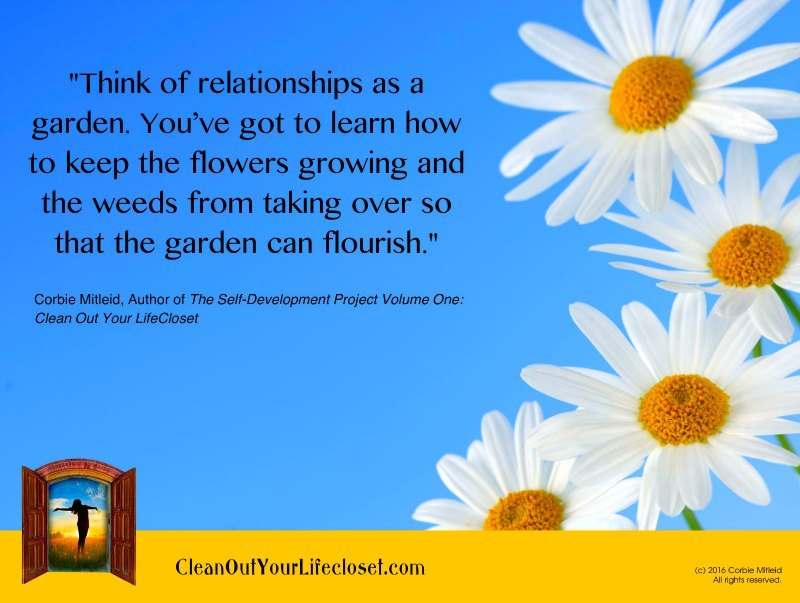realtionships garden self help quotes books