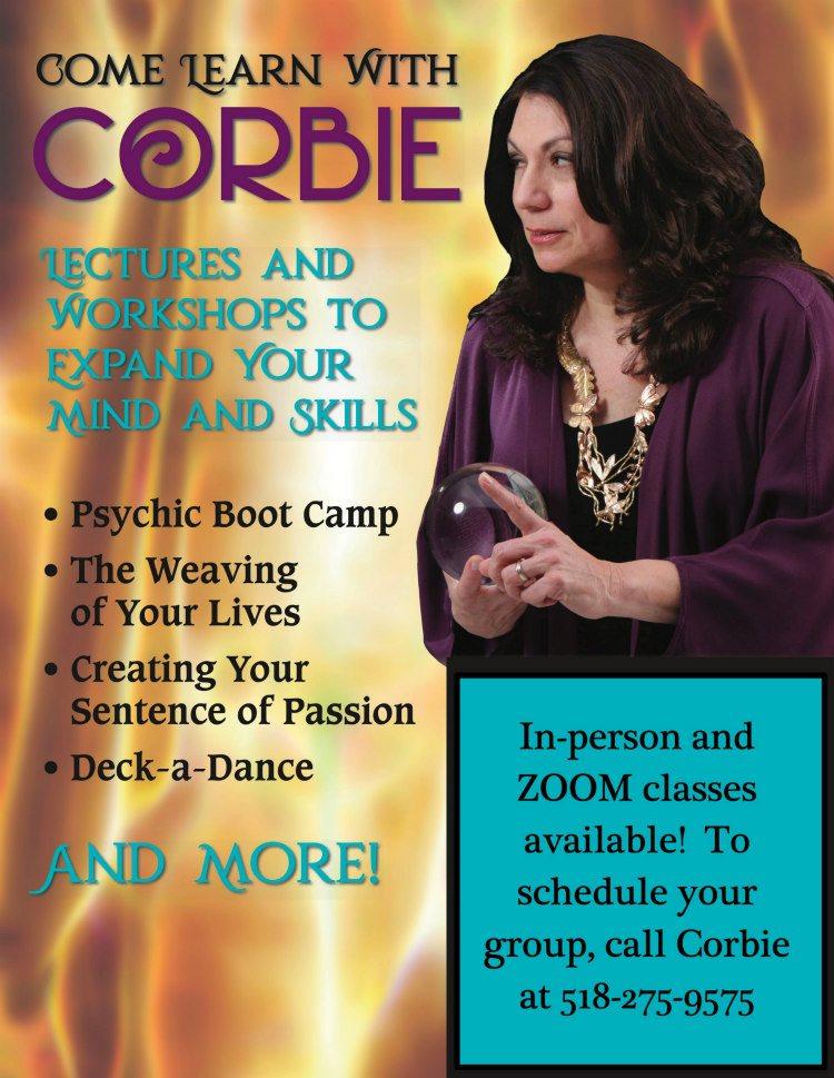 online psychic lectures workshops corbie mitleid
